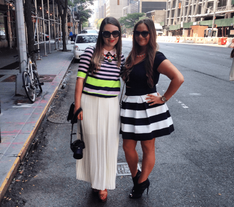 missyonmadison hellonyc nyc nyfw missynyfw fashionblogger streetstyle thevaneapp rewardstyle rsnyfw mbfw fashionweek fashionblog styleblog stripedskirt blackbooties friends lincolncenter