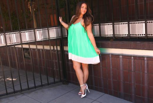 missyonmadison, melissa tierney, la blogger, la photography, la, fashion blogger, outfit inspo, outfit inspiration, mint green dress, shop the mint, mint julep, white ankle strap heels, white ankle strap sandals, michael antonio white heels, dsw, dsw shoe lovers, coach crossbody, beige coach crossbody, beige crossbody bag, brunette hair, curled hair, brunette hairstyle, circle necklace, circle pendant necklace, x ring, how to wear color, how to wear green, summer dresses,